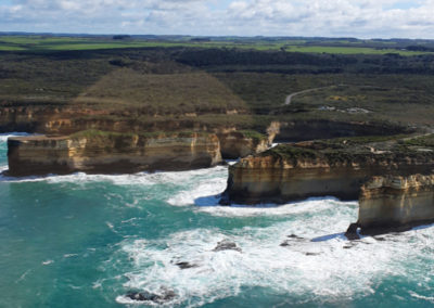 View for flight with 12 Apostles Helicopters