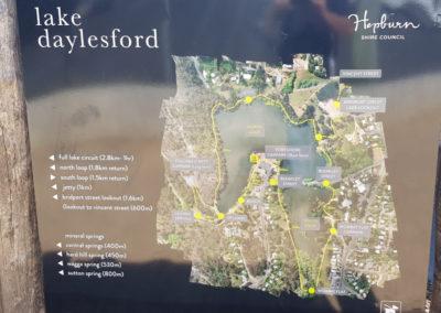 Map of Lake Daylesford