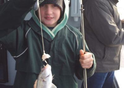 Caught a fish on boat tour