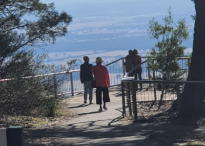 The lookout at the Grampians