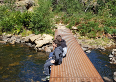Relaxing on the bridge at Grampians
