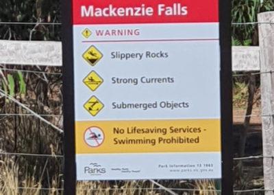 Mackenzie's Falls warning information