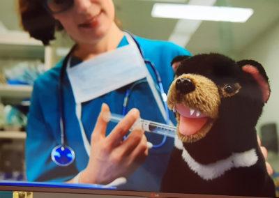 Teaching the children at Animal hospital