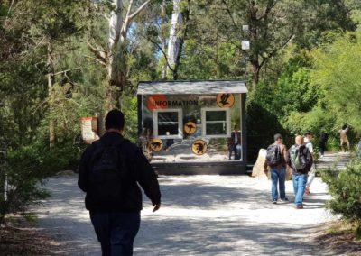 Information centre at Healesville wildlife sanctuary