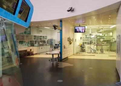 Inside animal hospital