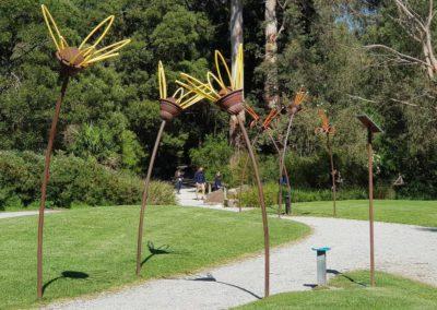 Gardens in the Healesville wildlife sanctuary