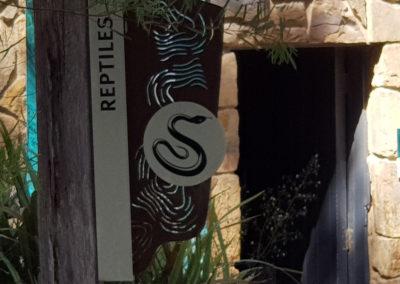 Reptile centre at wildlife park
