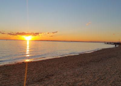 Sunset Brighton Beach