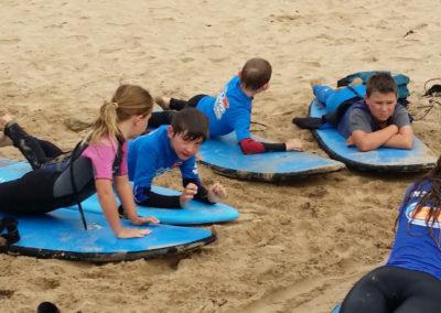 Onshore surf lesson