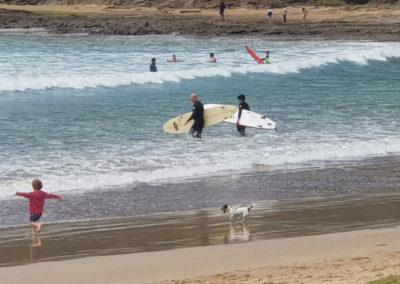 Surfing at Lorne Great Ocean road