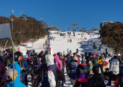 Busy day on the slopes Mt Buller