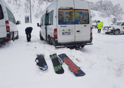 Getting ready for a day on the snow Mt Buller