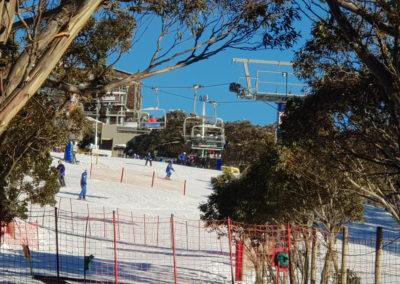 Ski lifts at Mt Buller