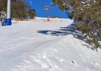 empty slope on mt Buller