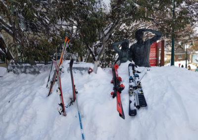 Ski left in the snow