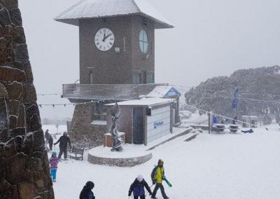 Clock tower at Mt Buller Victoria Australia
