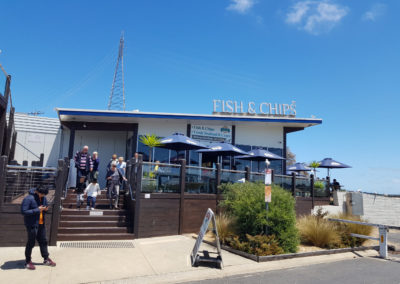 Fish and chips at Sanremo Phillip Island