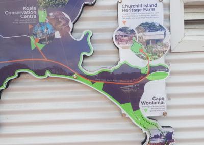 Map of Phillip Island