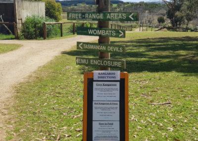 Directions to australian animals at Phillip Island wildlife park