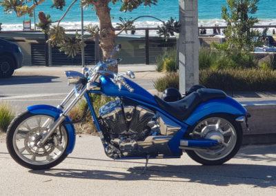 Classic motor bike on display