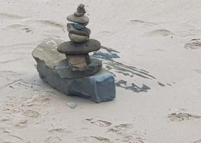 Rock stacks on beach