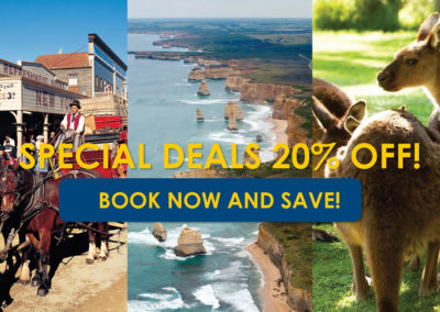 Special deals for tours from Melbourne