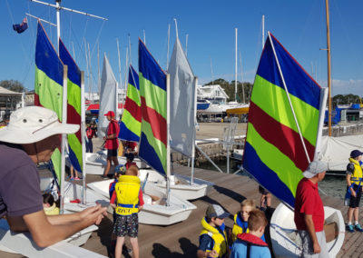 Sailing lesson for kids