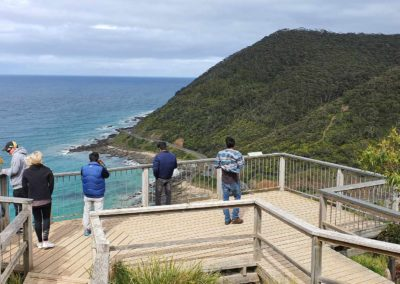 Great view of Great Ocean Road from Lorne lookout