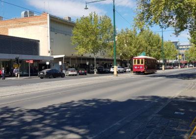 Tram main road in Bendigo
