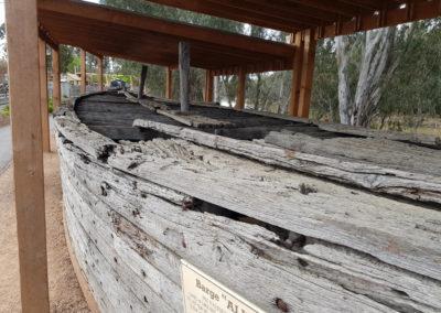 Barge at Echuca tour