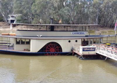 Canberra Paddle steamer