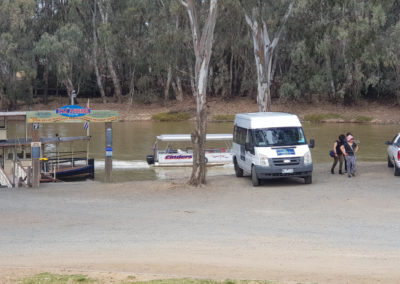 Around And About bus parked at Echuca