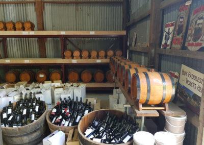 Cheap wine at Echuca