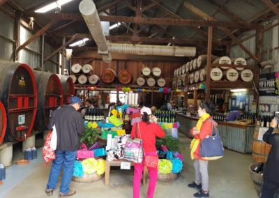 Wine sales at Echuca