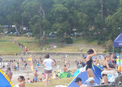 Lorne Beach is busy place