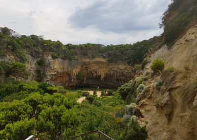 Loch Ard Gorge view from steps