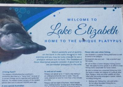 Home of the Platypus Lake Elizabeth