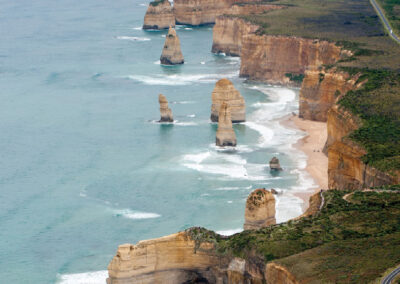 View of 12 apostles from the sky