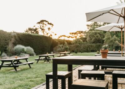 yarra valley gourmet outdoor seating